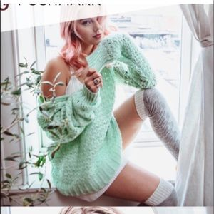 Free People sweater Mew with tags.
